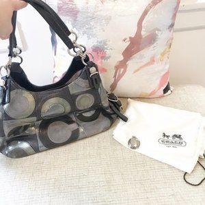 Coach Maggie Mia Gray Leather Hobo Bag